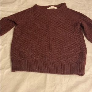 HM boys 6-8 year old long sleeve burgundy sweater